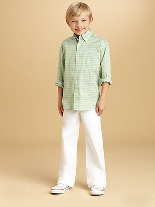 Oscar de la Renta Toddler's & Little Boy's Tattersall Check Shirt