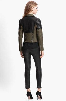 Faith Connexion Mixed Leather Jacket