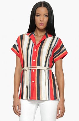 Lafayette 148 New York 'Victoria' Belted Blouse