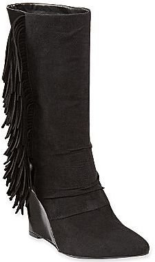 JCPenney Cosmopolitan Eve Suede Wedge Boots with Fringe