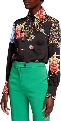 Victoria Victoria Beckham Tie-Neck Recycled Twill Shirt