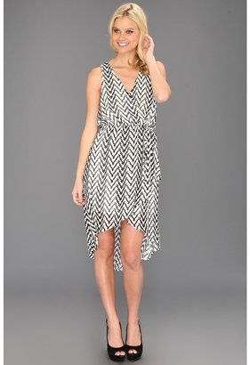 Type Z Kornelia Chevron Hi-Low Dress (Black/White) - Apparel
