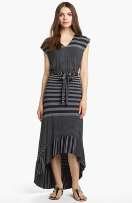 Nordstrom FELICITY & COCO High/Low Stripe Jersey Dress (Regular & Petite Exclusive)