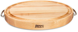 John Boos Oval Board with Stainless-Steel Handles