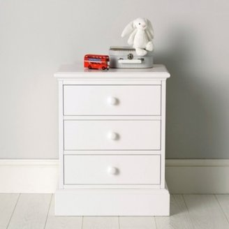 The White Company Classic Bedside Table, White, One Size