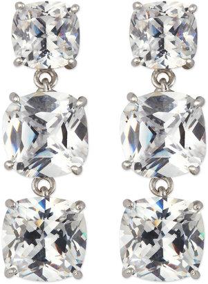 Kenneth Jay Lane CZ by Cushion-Cut CZ linear Earrings