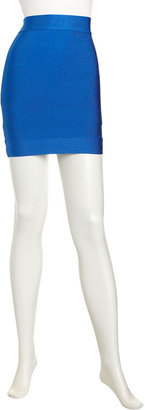 BCBGMAXAZRIA Power Stretch Miniskirt, Larkspur Blue