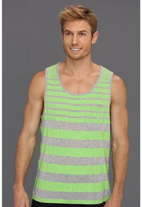 Calvin Klein Jeans Harmony Strip Tank (Fresh Green) - Apparel