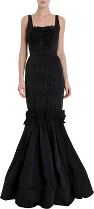 Nina Ricci Pleat Front Gown