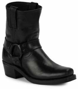 Frye Harness Square Toe Leather Boots