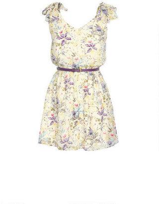 Delia's Floral Tie Shoulder Dress