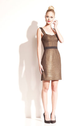 Betsey Johnson Structured Gold Dress