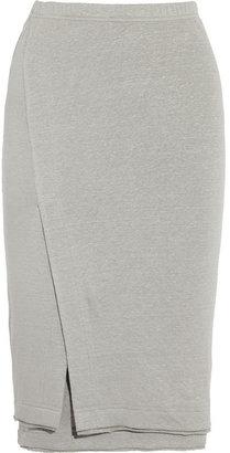 Donna Karan Stretch-linen jersey skirt