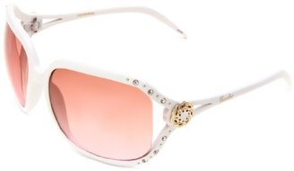 UNIONBAY Union Bay Women's U187 Oversized With Vented Lenses,White Frame,Smoke Gradient Lens,One Size