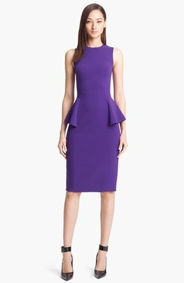Michael Kors Peplum Wool Crepe Sheath Dress