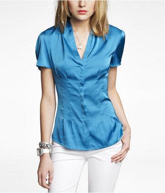 Express Pleated Satin Shirt