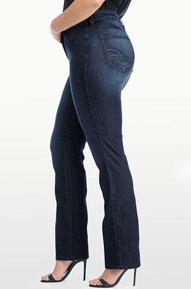 NYDJ MARILYN STRAIGHT LEG IN PREMIUM LIGHTWEIGHT DENIM WITH BACK POCKET DESIGN - Plus