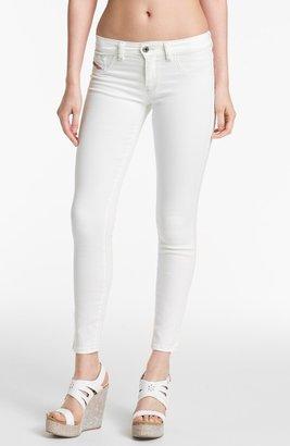 Diesel 'Livier' Ankle Skinny Jeans (White)