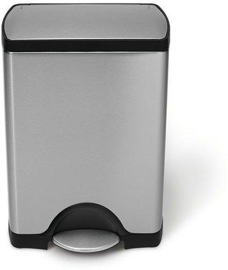 Simplehuman rectangular step trash cans