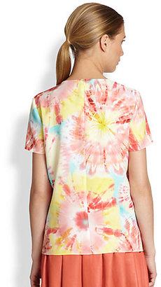 Moschino Cheap & Chic Moschino Cheap And Chic Tie-Dye Print Top