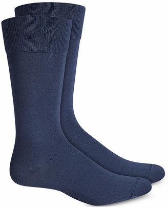 Perry Ellis Men Socks, Microluxe Flat Knit Men Socks