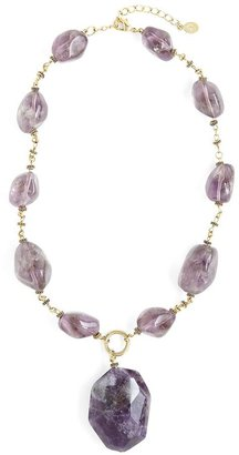 Amethyst Pendant Necklace $268 thestylecure.com