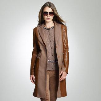 Jones New York Leather Coat