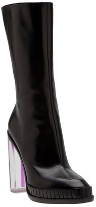 Maison Martin Margiela round toe clear boot