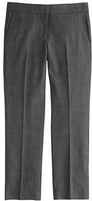 J.Crew Petite Campbell capri pant in plaid bi-stretch wool