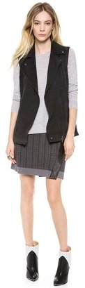 Club Monaco Whitney Sleeveless Moto Vest