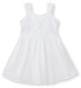 Amy Byer Girls' 4-6X White Eyelet Corset Dress