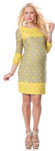 A Pea in the Pod TAYLOR 3/4 Sleeve Sheath Maternity Dress