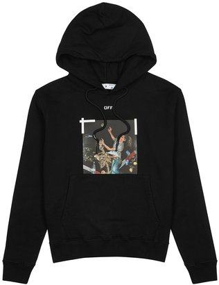 Off-White Pascal Painting Printed Hooded Cotton Sweatshirt