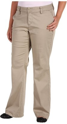 Jag Jeans Plus Size Pearl Trouser Fine Line Twill (Stucco) - Apparel