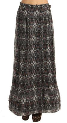 Charlotte Ronson Paneled Print Maxi Skirt