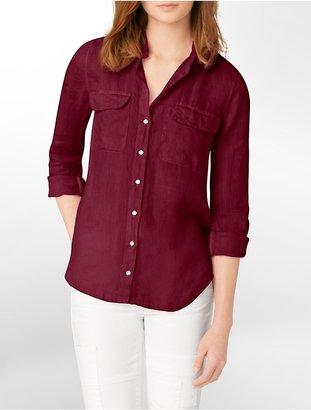 Calvin Klein Jeans Long Sleeve Button-Front Shirt