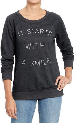 Old Navy Women's Graphic Crew Sweaters