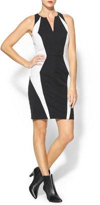 Milly Angular Seamed Sheath Dress