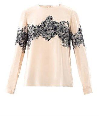 Vanessa Bruno Floral-print silk blouse