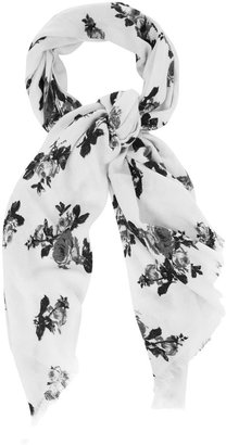 Oasis Floral acrylic scarf