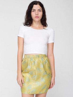 American Apparel Vintage Floral Brocade Mini Skirt