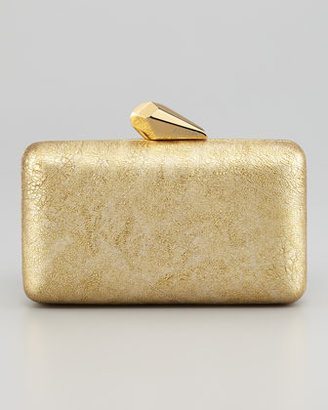 Kotur Espey Crinkled Leather Minaudiere, Yellow Golden
