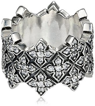 "King Baby ""Cross"" Triple Stacked Cubic-Zirconia Cross Ring, Size 8 $615 thestylecure.com"