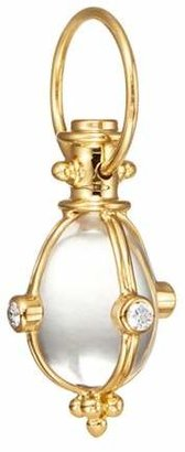 Temple St. Clair Classic Rock Crystal, Diamond & 18K Yellow Gold Amulet
