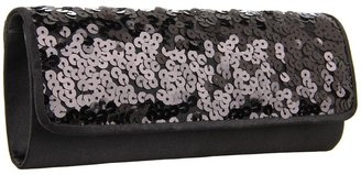 Jessica McClintock Sequin Clutch (Black 2) - Bags and Luggage