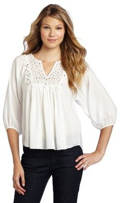 Rebecca Taylor Women's Tiles Embroidered Blouse