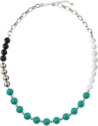 RJ Graziano Colorblock Bead-Chain Necklace