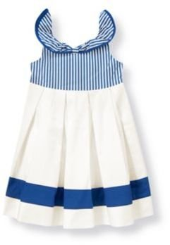 Janie and Jack Dobby Stripe Collar Dress