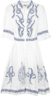 ALICE by Temperley Rana embroidered cotton and silk-blend dress