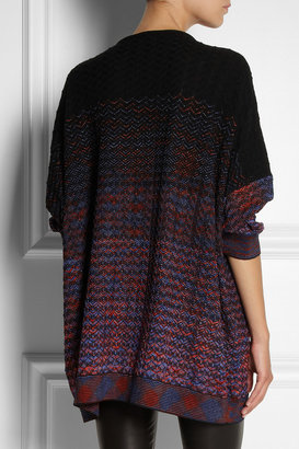 M Missoni Oversized crochet-knit wool-blend sweater